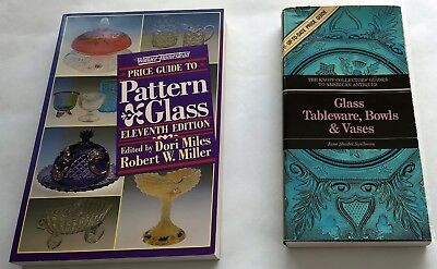 Lot of 2 Price Guides for Antique Pattern Glass~Bowls~Miles~Miller~Spillman