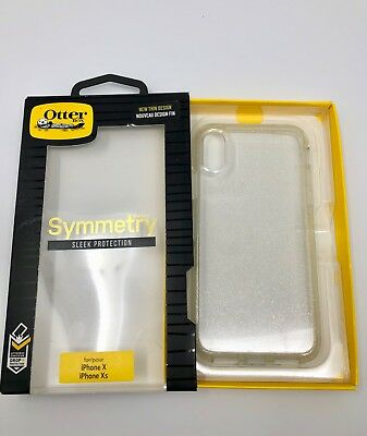 Genuine OTTERBOX SYMMETRY Case for iPhone XS iPhone X Shimmer Stardust Clear