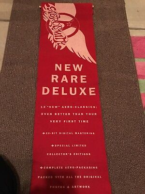 """AEROSMITH """"12 NEW RARE DELUXE"""" U.S. PROMO FELT CLOTH BANNER FROM 1993-Get A Grip"""