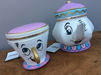 NEW Primark Disney Beauty & the Beast Mrs Potts Teapot & Chip Cup 3D Coin Purse
