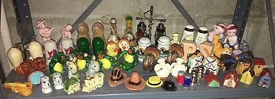 Huge lot 30 vintage salt and pepper shakers mid century decorative