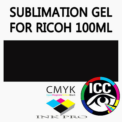 Black Sublimation Gel Ink For Ricoh Printers 100Ml Heat Transfer Dye Sub Ciss