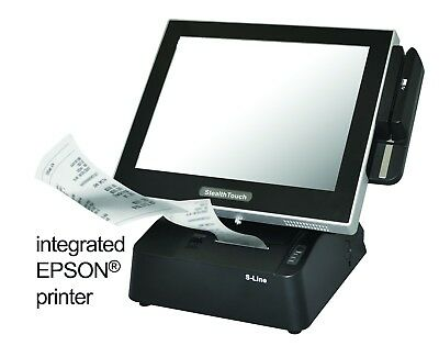 PioneerPOS StealthTouch M5 Point of Sale touchscreen POS with Epson printer, SSD