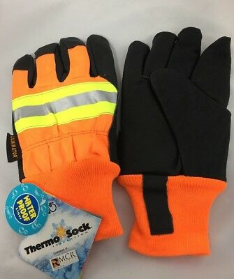 MCR Luminator Extra Large Pigskin Leather Water Proof Insulated Work Gloves