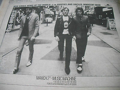 "The Jam 1978 ""news Of The World"" Single And Music Machine Gig Advert  A4"