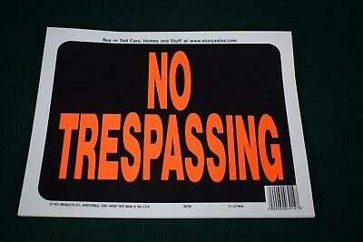 "Hy-Ko Plastic 9""x12"" No Trespassing Signs - Lot of 17 Signs - NEW"