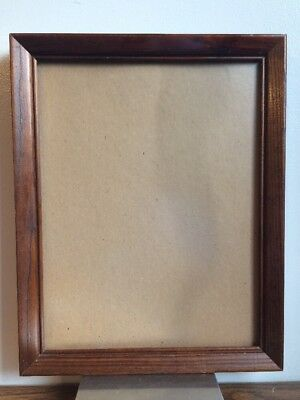 Vintage Non Reflective Glass Red Stained Solid Wood Picture Frame