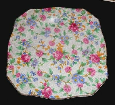 """Royal Winton/grimwades Old Cottage Chintz 6"""" Square Bread (1) With (3 Avail.)"""