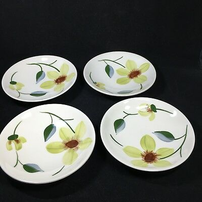 4 Blue Ridge Green Eyes Fruit Dessert Sauce Bowls Southern Potteries Lot A