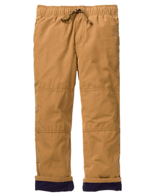 NWT Gymboree Boys Pull on Pants Fleece lined Khakis Tan Holiday shop Many sizes