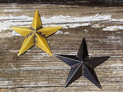 Antique Primitive Rustic Americana Amish BARN STARS Brass Button SET LOT of 2
