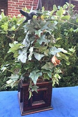 HUMMINGBIRD Antique IVY TOPIARY Architectural Garden Bird Home Decor Estate