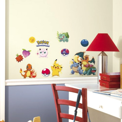 Peel and Stick Wall Decals RoomMates Pokemon Iconic RMK2535SCS Set of 12 Pieces