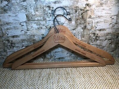 Battelsteins Wood Coat Hanger Sharpstown River Oaks Vintage Lot Austin Texas