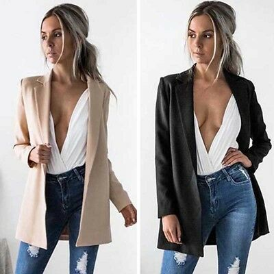 US STOCK Hot Women Ladies Suit Coat Business Blazer Long Sleeve Jacket Outwear