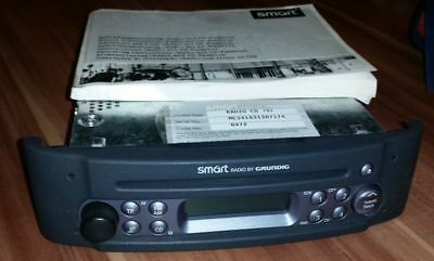Original Smart 450 Radio CD Player grau INKL. CODE, Karte & Bedienungsanleitung