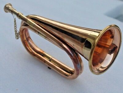 New Bugle-Brass & Copper Instrument- Boy Scouts, Military, Student Collectibles