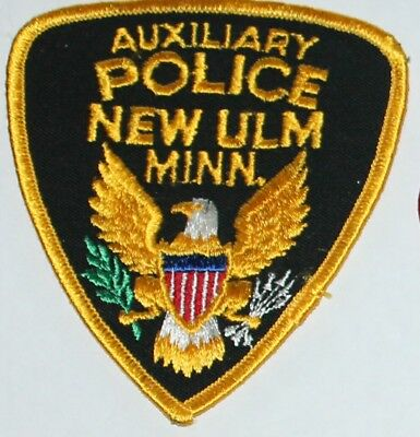 Old NEW ULM POLICE Auxiliary Minnesota MN MINN PD Vintage patch