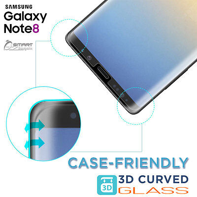 3D Case Friendly Tempered Glass Screen Protector For Samsung Galaxy Note 8 S8 d6