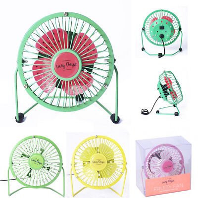 Summer Fruity Colours Metal USB Portable Mini Cooling Desk Fan Cooler PC Laptop