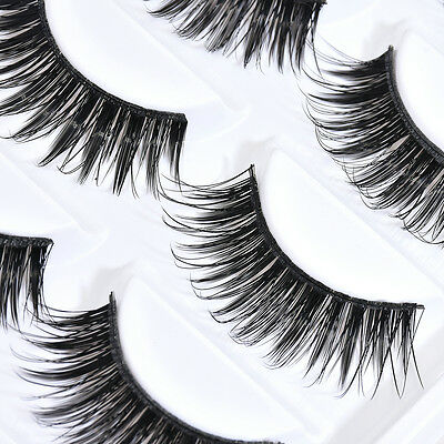 Natural Thick 5 Pairs Makeup False Eyelashes Long Eye Lashes Extension Handmade
