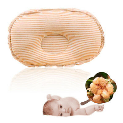 Infant Baby Toddler Safe Cotton Anti Roll Pillow Sleep Flat Head Positioner FE4