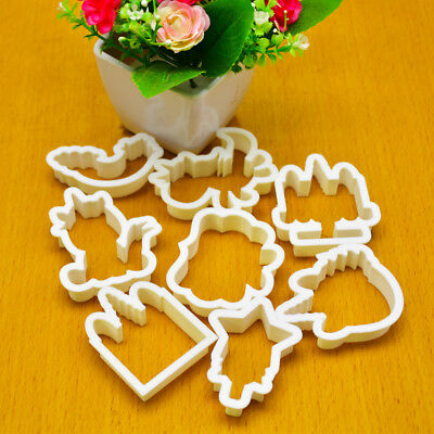 8pcs Unicorn Cookie Biscuit Embossing Mould Sugarcraft Cake Cutters Mold Tools