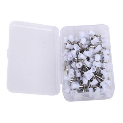 100x Dental Latch Type Rubber Polisher Polishing Prophy Cup Tooth Bowl Brushes