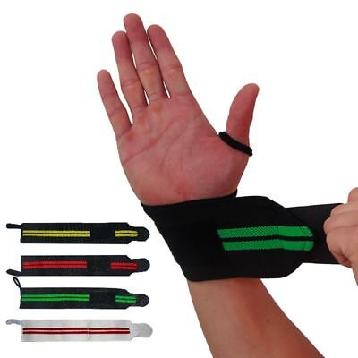 Padded Wrist Wraps Polyester Weight Lifting Training Straps Support Grip Gloves