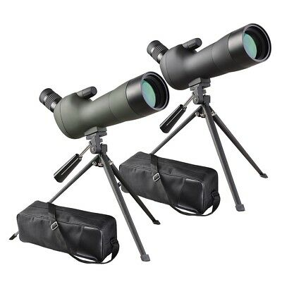 20-60x60mm Waterproof Nitrogen filled FMC Zoom Angled Spotting Scope Telescope