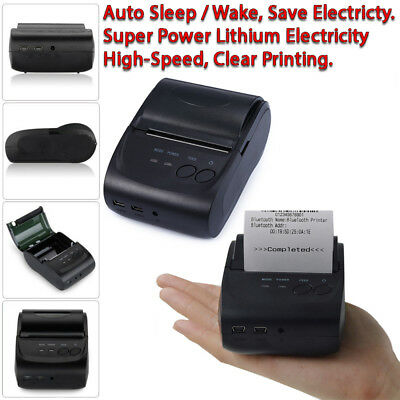 New Wireless 58mm Bluetooth Mini Thermal Receipt Printer For Mobile Android PC