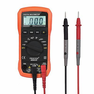 Proster Auto Ranging Digital Multimeter Pocket Digital Multimeters LCD Backlit