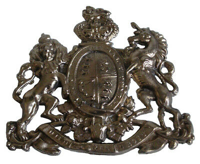 LARGE - Antique Style HEAVY CAST Arms of the EAST INDIA Company - BRASS