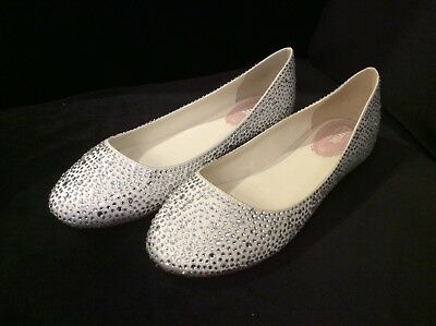 Twilight Ivory Flats Wedding Shoes Size Uk 7 Eu 40 New In Box Pink By Paradox