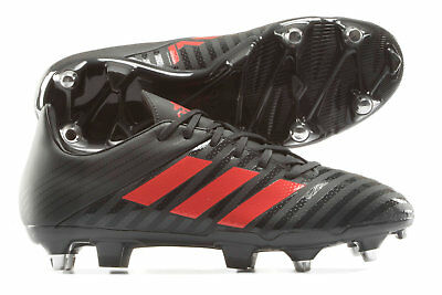 adidas Mens Malice Soft Ground Rugby Boots Sports Shoes Studs Brown
