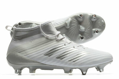 adidas Mens Predator Flare Soft Ground Rugby Boots Sports Shoes Studs White