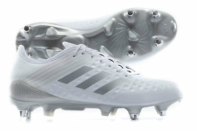 34b88df31 adidas Mens Predator Malice Control SG Rugby Boots Sports Shoes Studs White