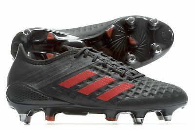 adidas Mens Predator Malice Soft Ground Rugby Boots Sports Shoes Studs Brown