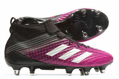 adidas Mens Predator Flare Soft Ground Rugby Boots Sports Shoes Studs Pink