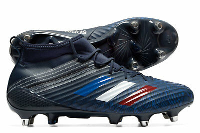 adidas Mens Predator Flare Soft Ground Rugby Boots Sports Shoes Studs Navy