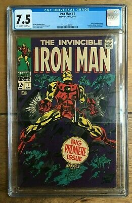 The Invincible Iron Man #1 - CGC 7.5 - Off White to White Pages