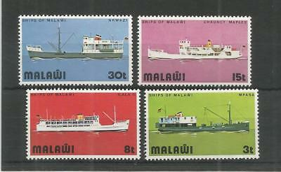 Malawi 1975 Ships Of Lake Malawi Sg,486-489 U/mm Nh Lot 6050A