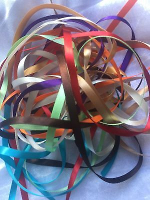 Ribbon bundle of 3mm/6mm/10mm/15mm/25mm Double Sided Satin Ribbon.
