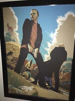 Mexican Shootout Breaking Bad Art Gifs Rich Kelly Print Poster S/N 2012 Walter