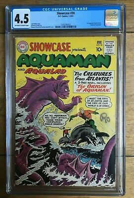 Showcase #30 - CGC 4.5 - 1st Aquaman Tryout Issue - Origin of Aquaman