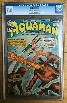 Aquaman #1 -  CGC 7.0 - Silver Age -1st Appearance of Quisp