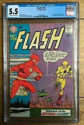 Flash #139 CGC 5.5 1st appearance of Professor Zoom (Reverse Flash) Off W/ White