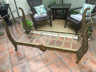 Antique French Campaign Folding Daybed | 19th Century