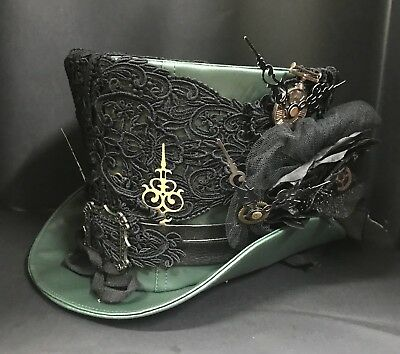 SDL Steampunk Laced Clock With Hands Top Hat And Cogs Size  58,59,,60cm