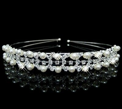 Wedding  Bridal Communion  Girl Head Piece Hair  Band Accessory Crystal Pearl